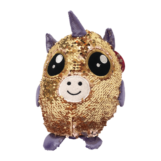 Picture of Sequin Surprise Soft Toy - Gold Unicorn