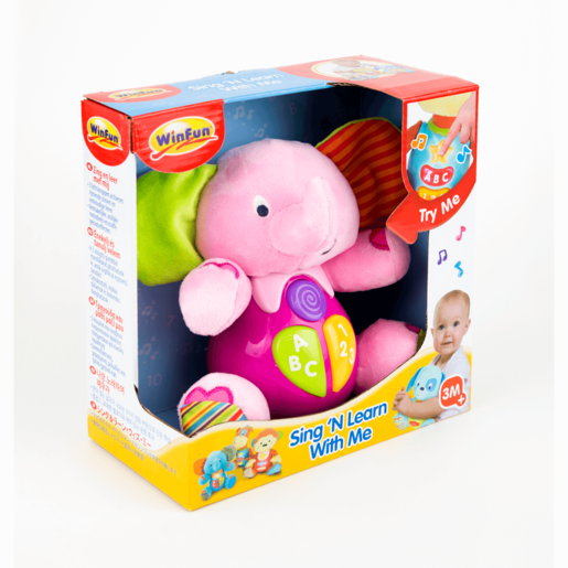 Picture of WinFun Sing and Learn With Me Timber the Elephant - Pink