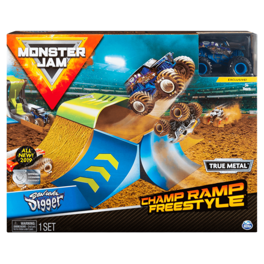 Picture of Monster Jam Champ Ramp Freestyle Playset - 1:64