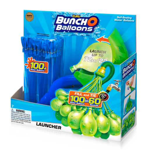 Picture of Bunch O Balloons Launcher with 100 Water Balloons - Blue By ZURU