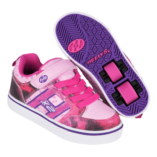 Picture of Heelys - Size 3 - X2 Bolt Pink and Purple Skate Shoes
