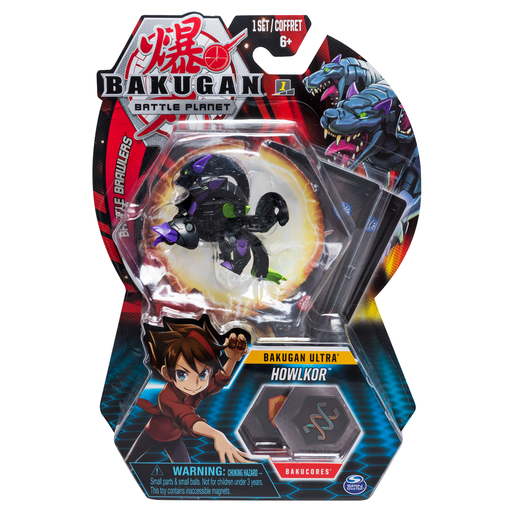 Picture of Bakugan 8cm Ultra Action Figure and Trading Card - Howlkor