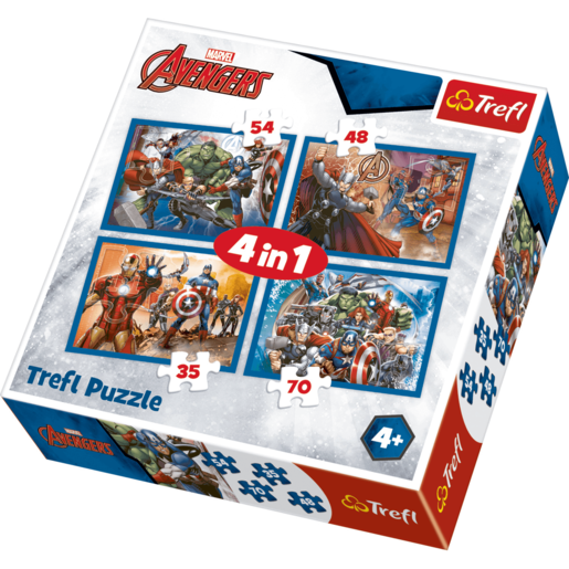 Picture of Trefl 4 in 1 Puzzle Marvel Avengers-  Fearless Avengers