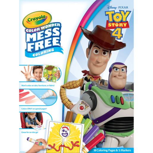 Picture of Disney Toy Story 4 Crayola Color Wonder Mess Free Book