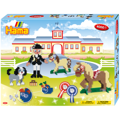 Picture of Hama Beads Riding School