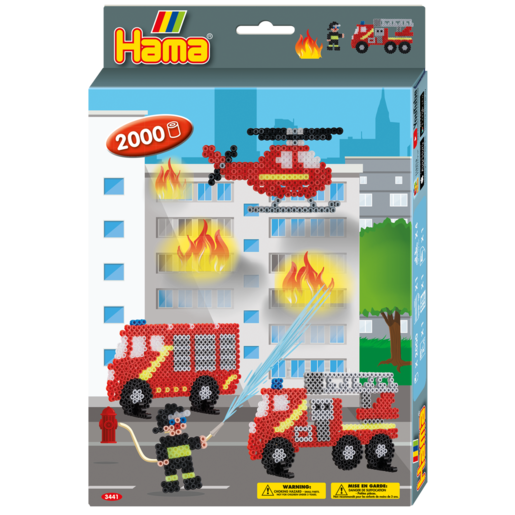 Picture of Hama Beads Firefighter Hang Box