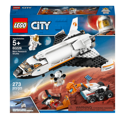 Picture of LEGO City Mars Research Shuttle Spaceship Construction - 60226