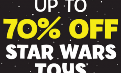 Star Wars toys up to 70% off at The Entertainer