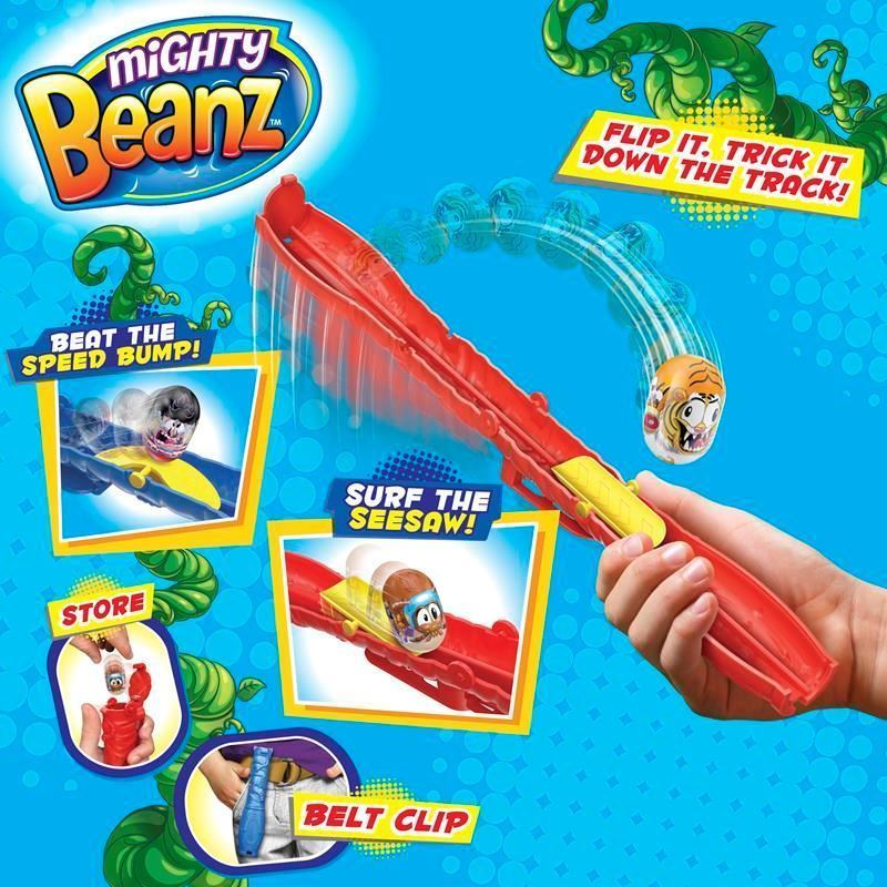 Picture of Mighty Beanz Flip Track - Blue  Series 1