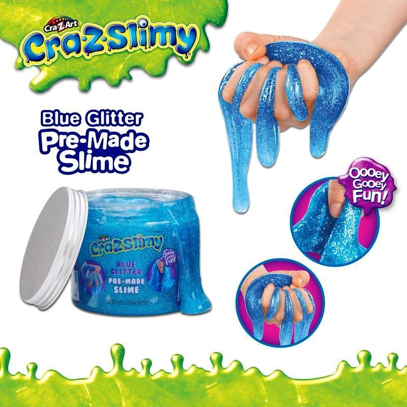 Picture of Cra-Z-Slimy Creations Pre-Made Glitter Slime - Blue