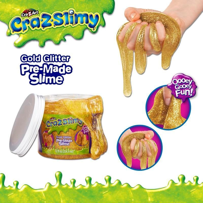 Picture of Cra-Z-Slimy Creations Pre-Made Glitter Slime - Gold