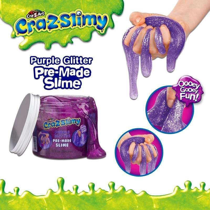 Picture of Cra-Z-Slimy Creations Pre-Made Glitter Slime - Purple