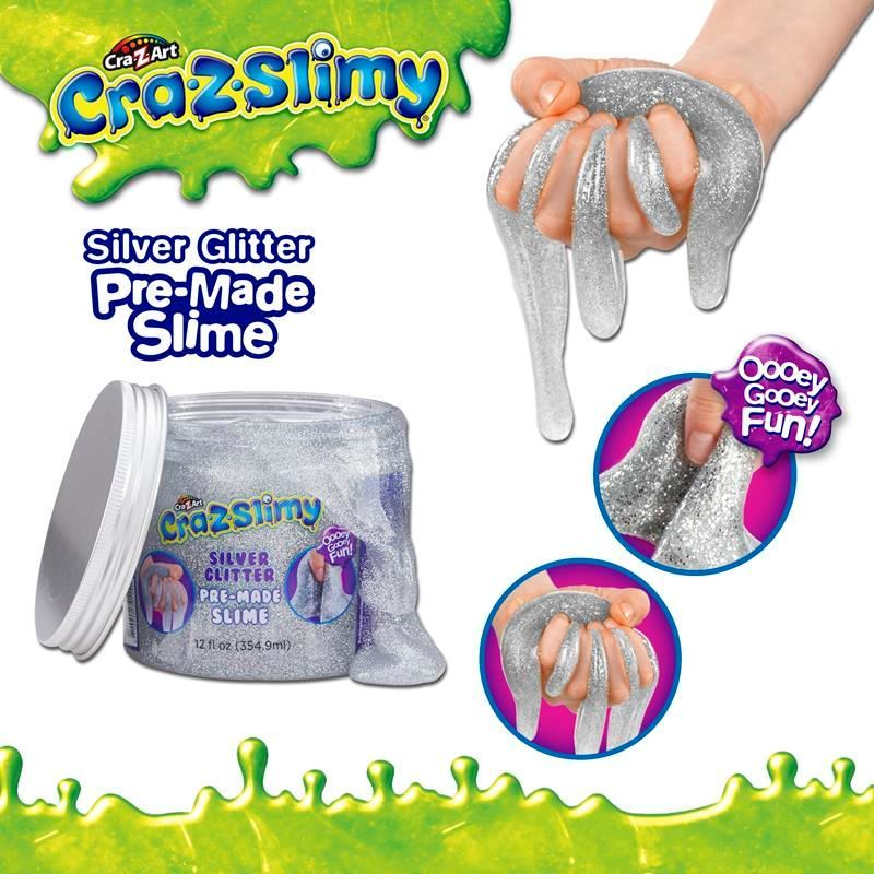 Picture of Cra-Z-Slimy Creations Pre-Made Glitter Slime - Silver