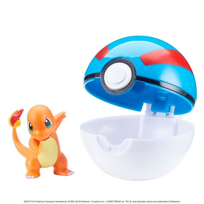 Picture of Pokémon Clip 'N' Go Poké Ball - Charmander and Great Ball