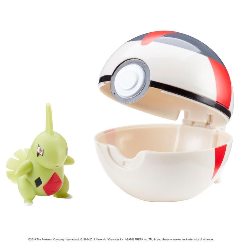Picture of Pokémon Clip 'N' Go Poké Ball - Larvitar and Timer Ball