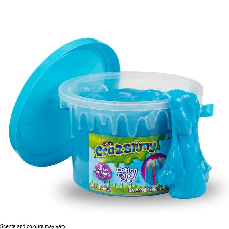 Picture of Cra-Z-Slimy Creations 3lb Bucket Pre Made Scented Slime - Cotton Candy