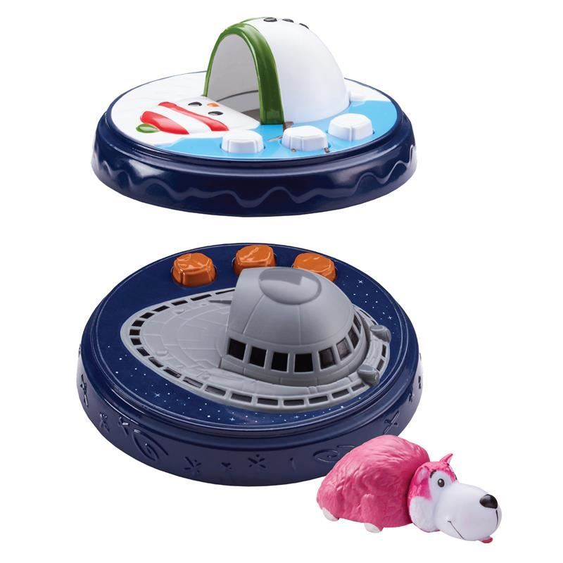 Picture of FlipaZoo World Micro Playset & Mini Figure Set - Snowy Day/Flying Saucer