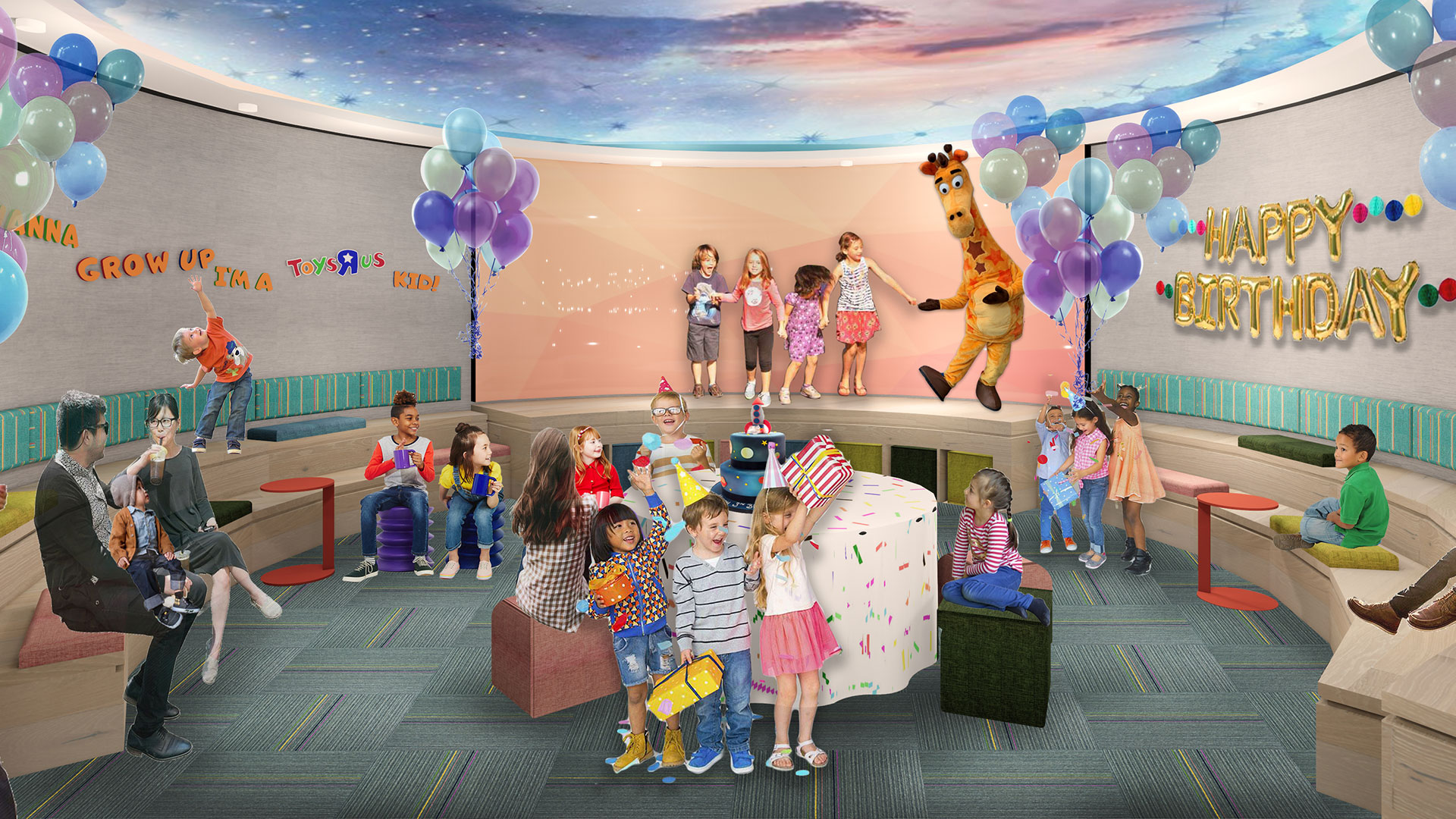 New Toys R Us party and event area