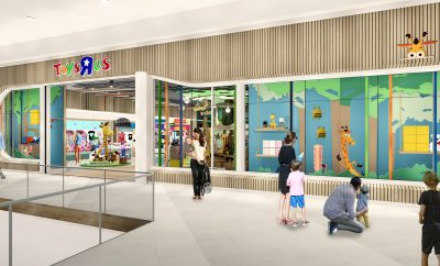 New concept Toys R Us store front.