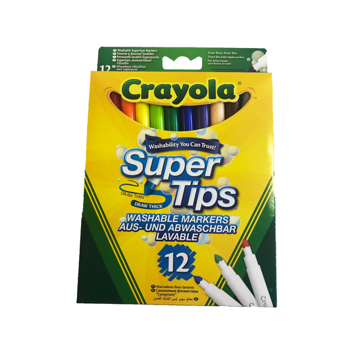 Picture of Crayola Supertips Pens - 12 Pack