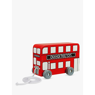 Picture of Orange Tree London Bus Pull Along Wooden Toy
