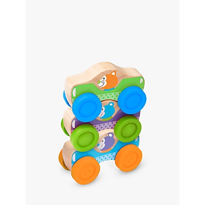 Picture of Melissa & Doug First Play Wooden Animal Stacking Cars