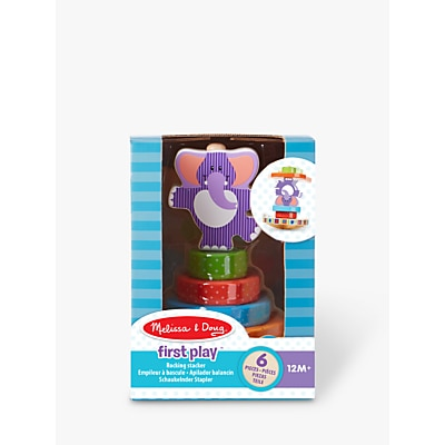 Picture of Melissa & Doug First Play Wooden Elephant Rocking Stacker
