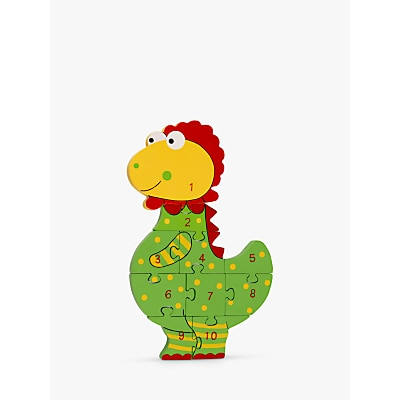 Picture of Orange Tree Wooden Number Dinosaur Puzzle