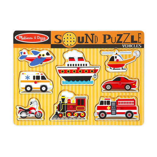 Picture of Melissa & Doug Classic Vehicles Sound Wooden Puzzle
