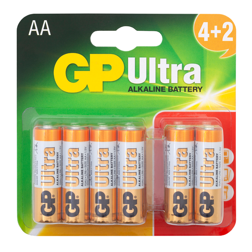Picture of GP Ultra 4+2 x AA Batteries