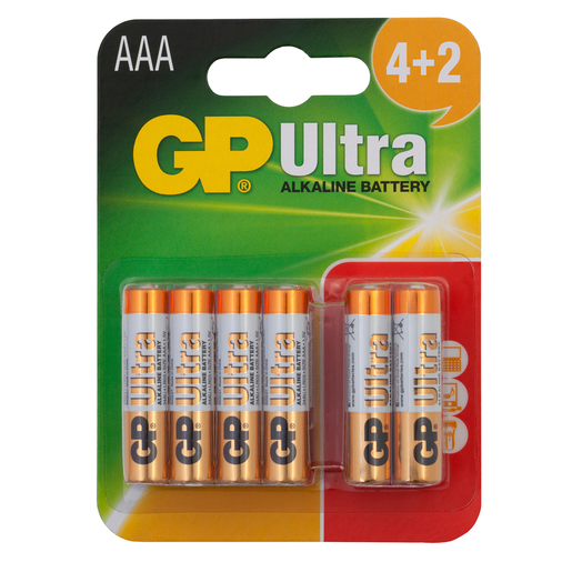 Picture of GP Ultra 4+2 x AAA Batteries