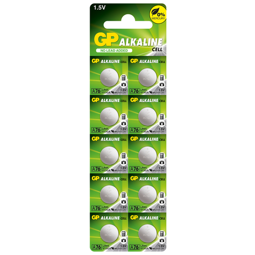 Picture of GP Ultra 10 x LR44 Alkaline Cell Batteries