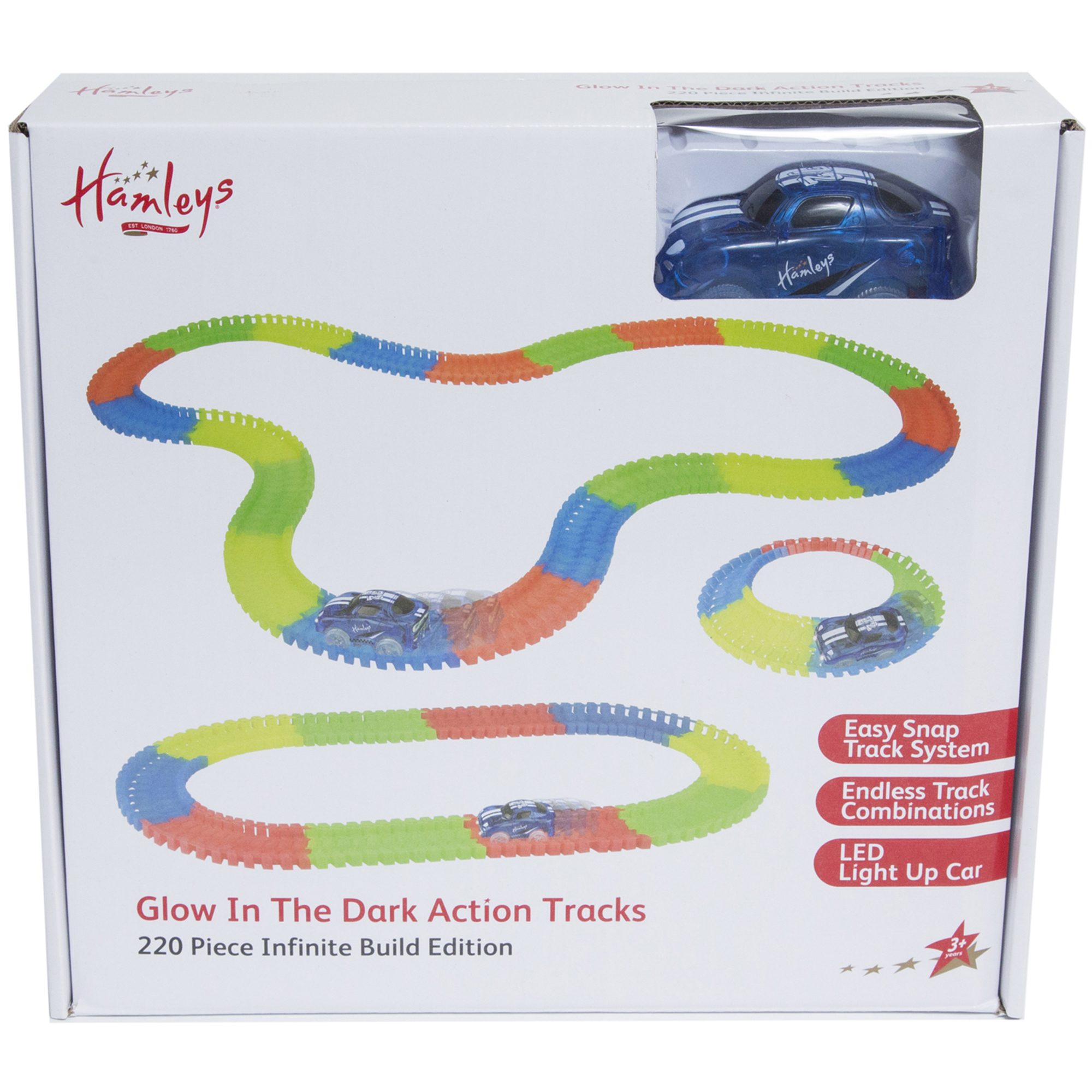 Picture of Hamleys Glow In Dark Amazing Action Trax 220 Pcs