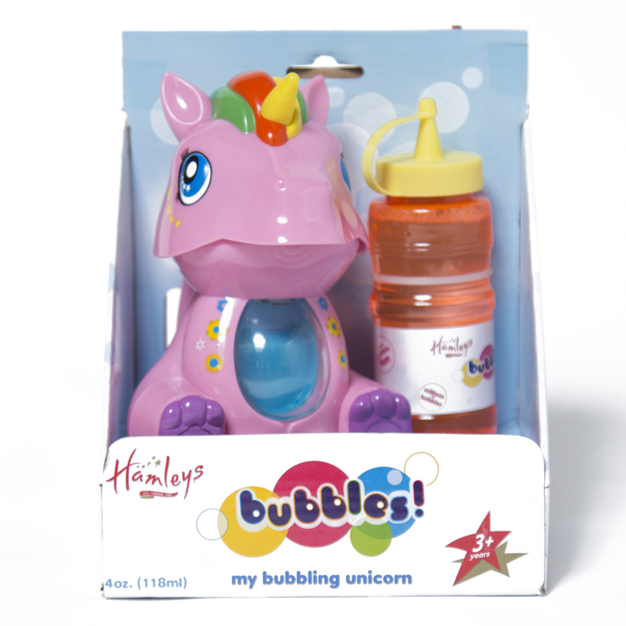 Picture of Hamleys Unicorn Bubble Machine White/Pink Ass
