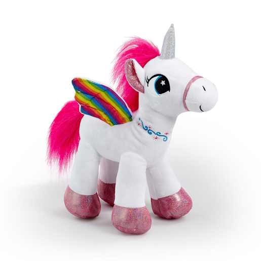 Picture of Snuggle Buddies Rainbow Flutter Unicorn Soft Toy - White