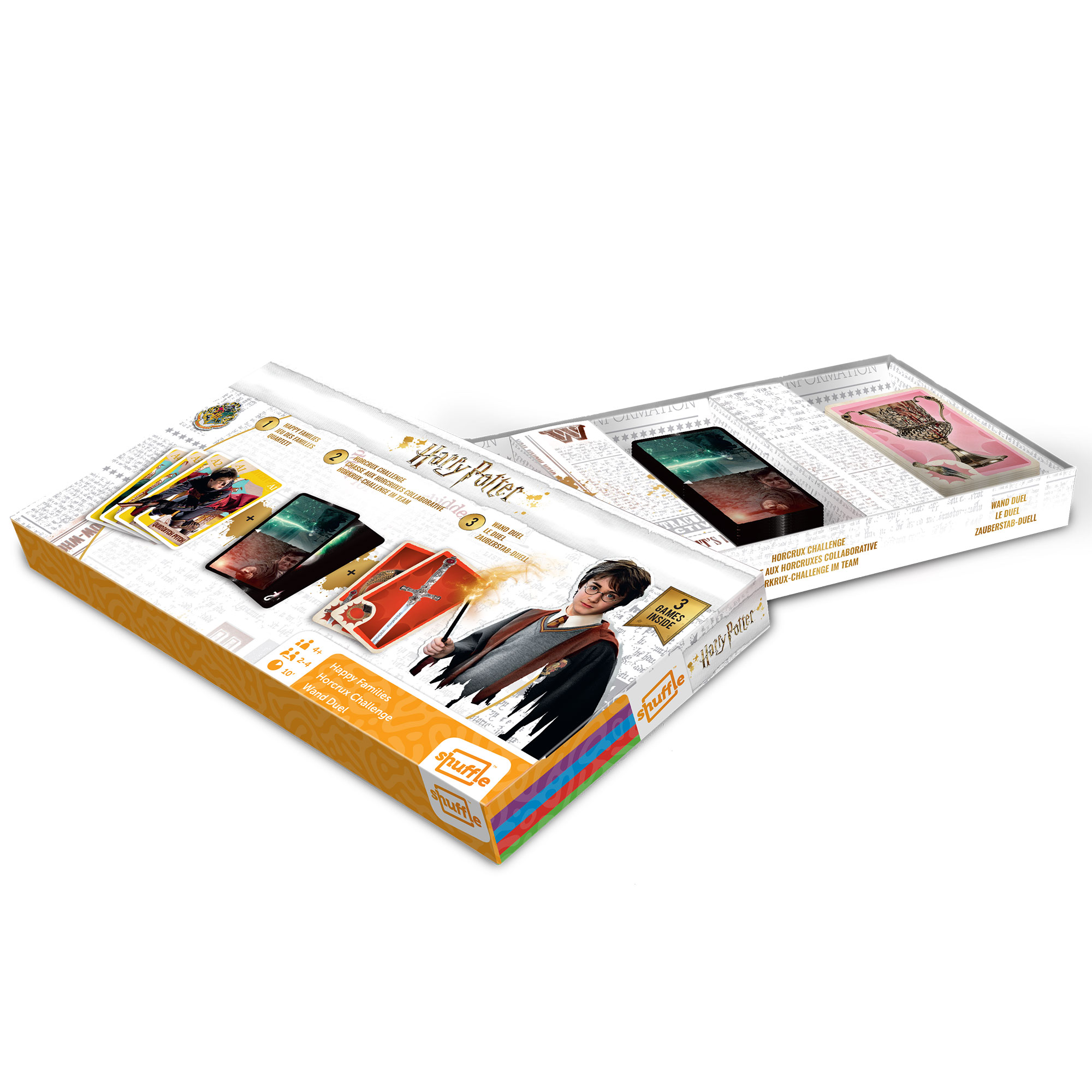 Picture of Harry Potter Shuffle Triple Card Game