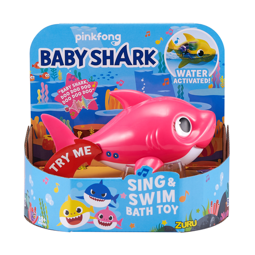 Picture of Baby Shark Sing and Swim Bath Toy - Mummy Shark By ZURU