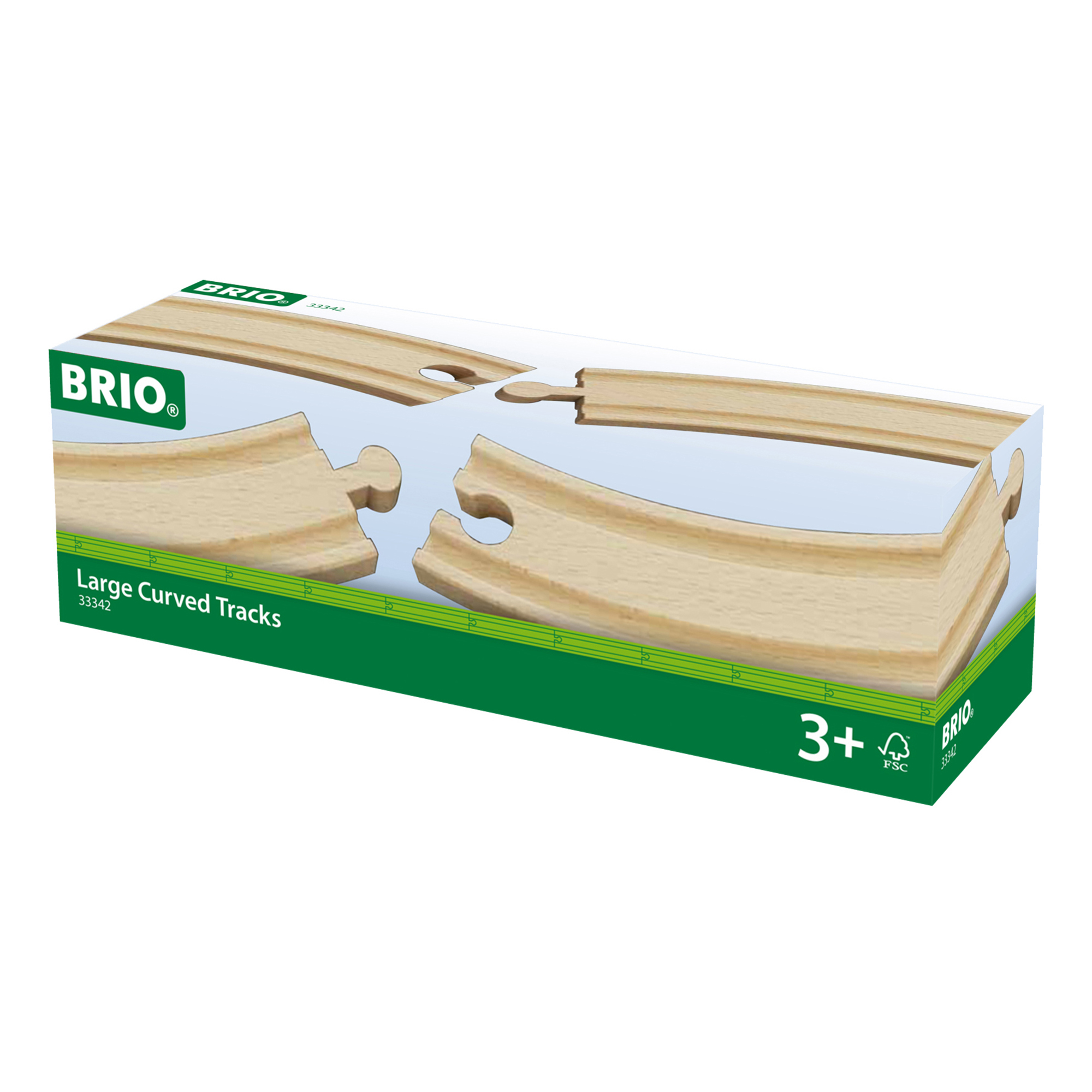 Picture of BRIO World Railway Large Curved Track