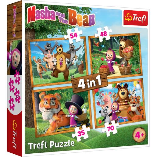 Picture of Trefl 4 in 1 Masha and The Bear 207pcs. Puzzle