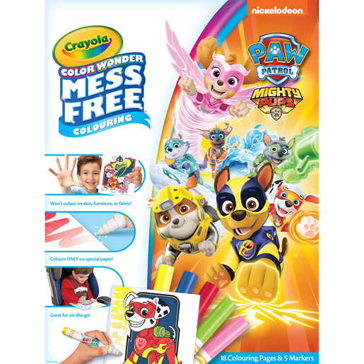 Picture of Paw Patrol Mighty Pups Crayola Color Wonder Mess Free Book