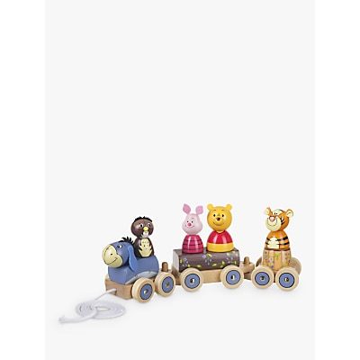 Picture of Orange Tree Winnie the Pooh Train Pull Along Wooden Toy