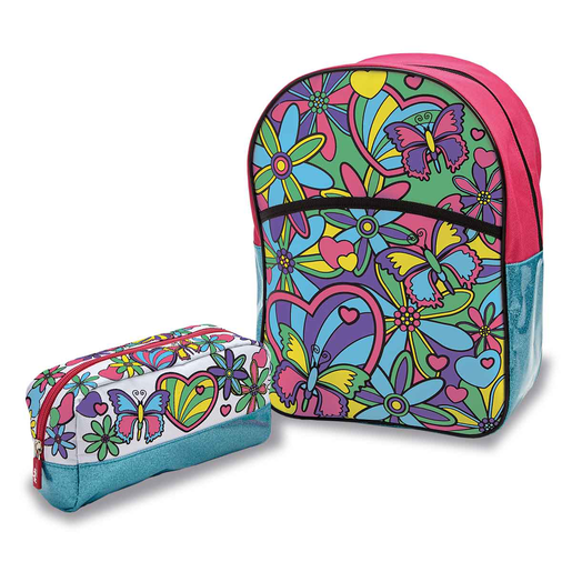 Picture of Out To Impress Colour Your Own Backpack and Pencil Case