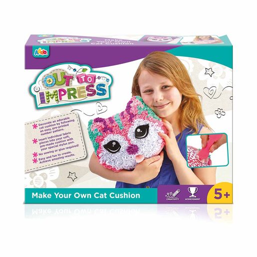 Picture of Out To Impress Make Your Own Cushion - Cat