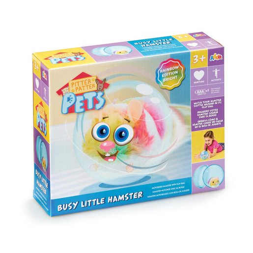 Picture of Pitter Patter Pets Busy Little Hamster - Bright Rainbow Edition