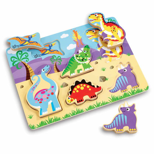 Picture of Woodlets Chunky Dinosaur Puzzle