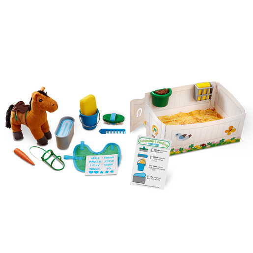 Picture of Melissa and Doug Horse Care Playset - Feed and Groom