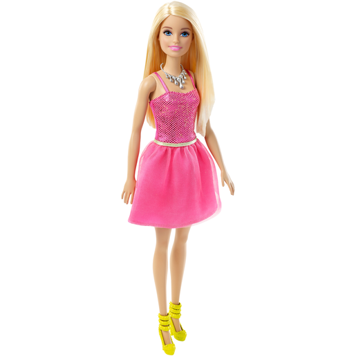 Picture of Barbie Glitz Doll - Pink Sequin Dress