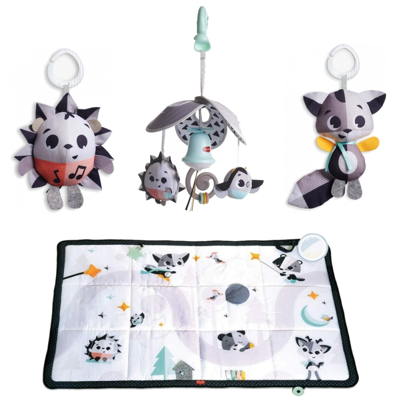 Picture of Tiny Love Black & White Super Mat With Mini Mobile & Toys-Magical Tales (NEW 2019)