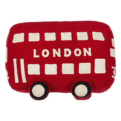 Picture of little home at John Lewis City Bus Soft Toy, Red