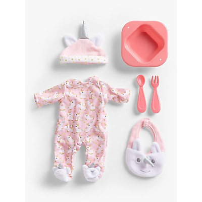 Picture of John Lewis & Partners Baby Doll Unicorn Accessory Set